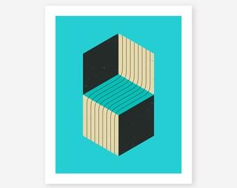 CUBES #1 (Giclée Fine Art Print, Photo Print or Poster Print) by Jazzberry Blue