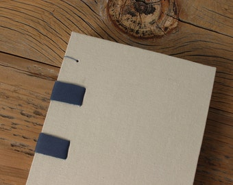 Blue, Leather & Linen Journal - The Uncut Book