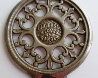 Vintage Distressed Universal Cast Metal Stove/Range Lid Universal Stove and Range