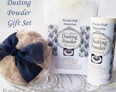 Dusting Powder Gift Set (Puff, Refillable Shaker, Powder Refill, Funnel, and gift box) BLUE MUMS