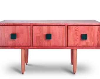TV Table Askja. Entertainment unit. Midcentury Modern TV Stand. Solid Wood. Ash furniture. Oak Furniture.