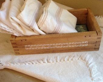 wood box   table centerpiece