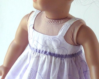 18 Inch Doll Clothes -- Sundress with Slip -- 2 Piece Outfit (0-20)