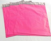 100 10 x13 Raspberry Pink Poly Mailer Envelopes, Self Sealing Poly Mailing Flat Lined Plastic Shipping Bags 2.5 Mil Colored Quality Mailers