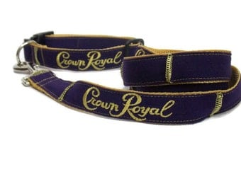 Crown Royal Inspired Leash and Collar Pet Set