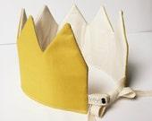 Fabric Crown-Mustard