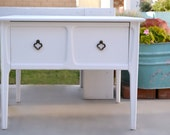 Side Table - End Table With One Large Drawer, Mid Century Furniture - Restyled Mersman Table