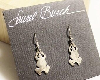 Vintage Frog Earrings By Laurel Burch, Frog Jewelry, Gifts Under 25