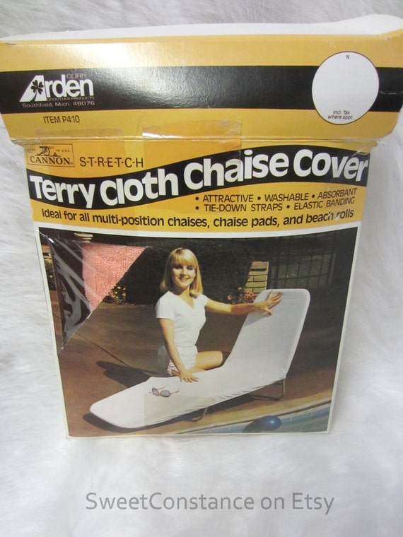 Vintage boxed terry cloth chaise lounge cover by for Chaise lounge covers terry cloth