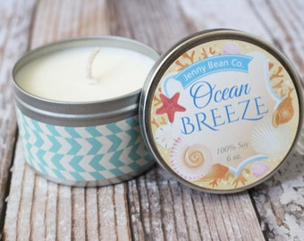 Ocean Breeze Travel Tin Soy Candle