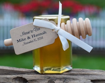 Set of 24 - 3 Oz Honey Jars, Honey Wedding Favor, Bridal Shower Favors, Baby Shower Favors, Honey Favors, Honey, Bee