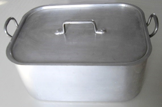 Vintage Aluminum Steamer Pan Tournus France Steamer Removable