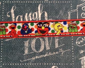 """1"""" Grosgrain Sesame Street Elmo Ribbon"""