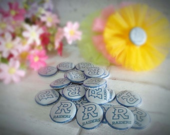 RAIDERS Buttons - RAIDERS Assorted Flatback - 30mm Buttons