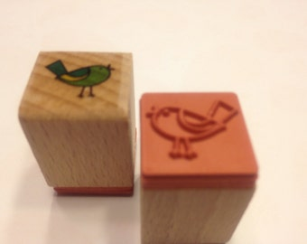 small bird rubber stamp, 16 mm (SB1)
