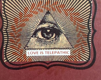 Love is Telepathic Memo Book Shipping Included