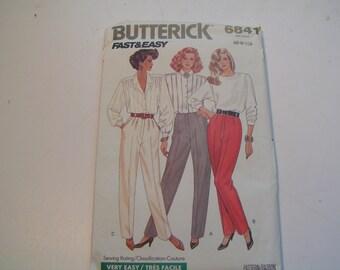 Butterick Pattern 6841 Miss Pants