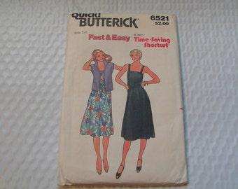 Vintage Butterick Pattern 6521 Miss Jacket Belt