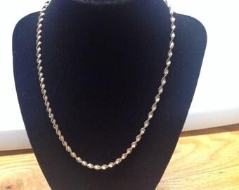 Vintage 925 Sterling Silver Danecraft Twisted Design Necklace