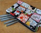 SALE! Romance comics retro large zip pouch, pencil case