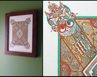 Malarkey Celtic Art Print