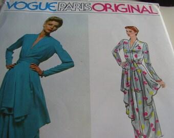 Vintage 1970's Vogue 2305 Paris Original Pierre Balmain Dress Sewing Pattern, Size10, Bust 32 1/2