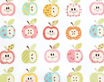 """Laminated Cotton Fabric - Apples - 44"""" Wide - By the Yard 78757"""