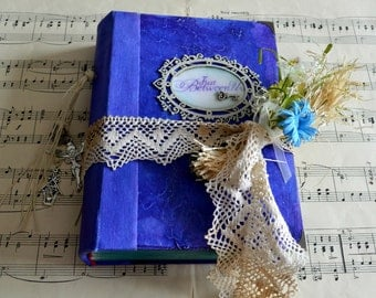 Handmade wedding guest book,  shabby wedding album, vintage wedding, photo album