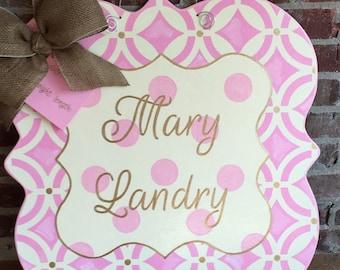 Baby Announcement Door Hanger