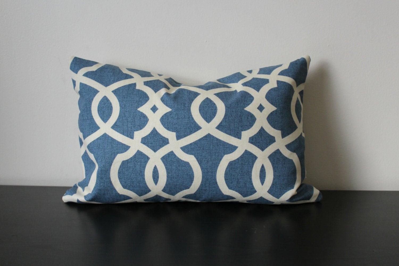 Decorative Throw Pillow Blue Lumbar Pillow12x1612 x18