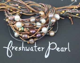Freshwater Pearl - Wish Bracelet - Wish Anklet - Make a Wish - Pearl Jewelry - Birthstone