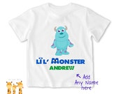 Little brother shirt Disney Monster Inc Tshirt - Personalized Little brother Shirt or Bodysuit - 026_BB_S2C_Sdisney monster02