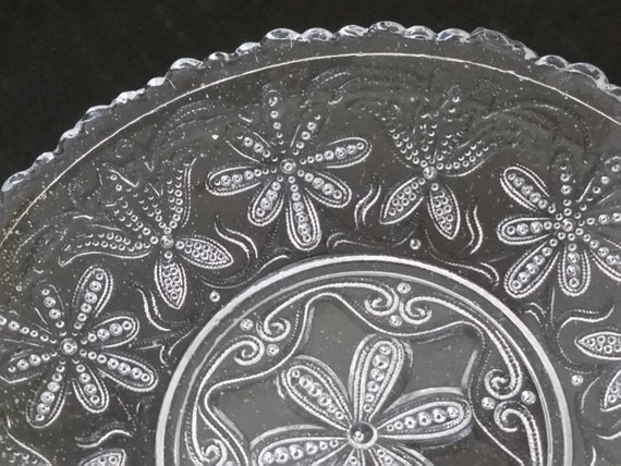 Vintage Depression Glass Bread / Desert Plates (Set 4)