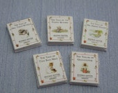 Gaël Miniature Beatrix Potter Collection set 2 handmade for dollhouse 12th scale book child 1:12 Dollhouse Miniature home decor book nursery