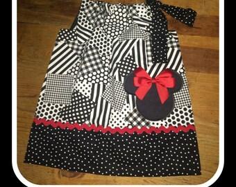 Multi-Print Black Mickey Pillowcase Dress