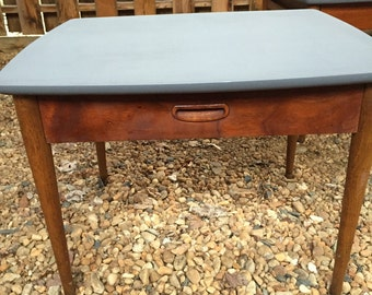 Pair Lane End tables refreshed Danish mid century modern eames era