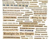 100+ VINTAGE WORDS - Tell Me A Story - Instant Printable Digital Collage Sheet