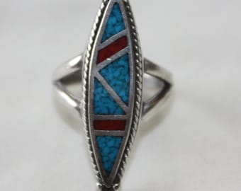 Sterling Silver Turquoise Ring, Native American Ring, Tribal Ring,  Vintage 1960s  Jewelry