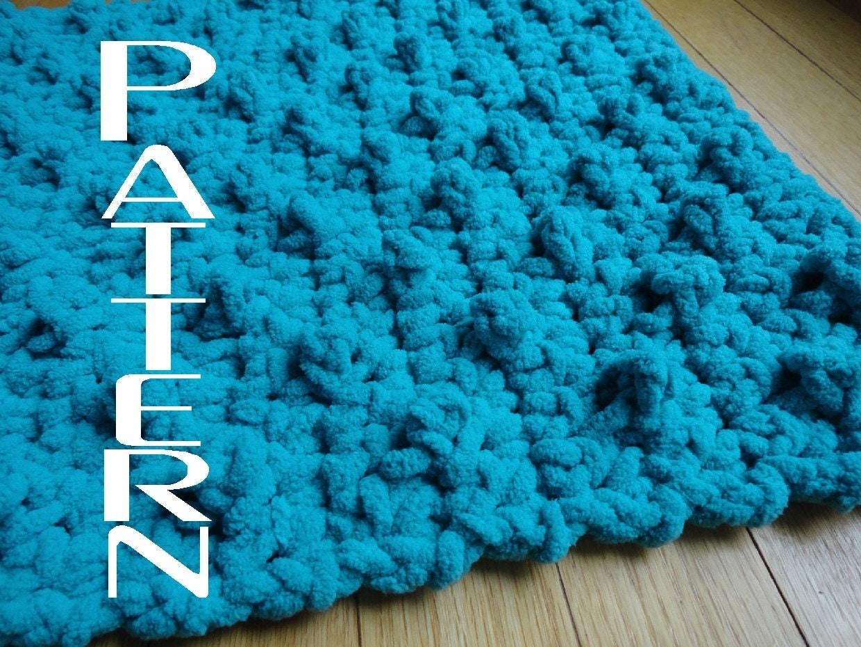 crochet pattern bumpy bath mat bathroom rug diy