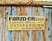 Farmer Sign Farmers Sign Farming Sign Made In Montana Farmhouse Decor Country Decor Reclaimed Wood Sign Rustic Home Decor Kitchen Decor