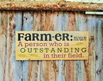 Farmer Sign Farmers Sign Farming Sign Made In Montana Farmhouse Decor Country Decor Reclaimed Wood Sign Rustic Home Decor Kitchen Decor