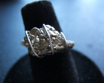Wire Wrapped Pyrite Ring