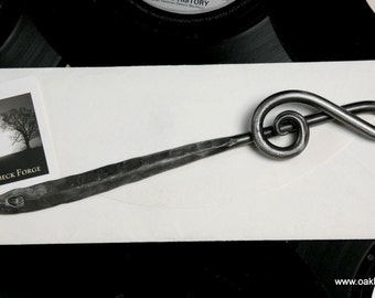 Treble Clef Letter Opener - Blacksmith Hand Forged