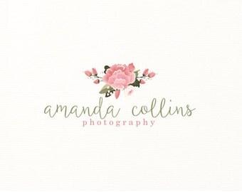 floral logo flowers premade logo - Logo Design #305
