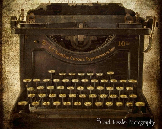 Smith & Corona Typewriter, Photography, Vintage Typewriter, Antique Typewriter, Still Life Photography