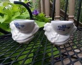 RARE Pair of Pfaltzgraff Yorktowne Eggcups with Blue Decal
