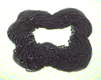 Sale 10pcs 65cm  Black chain With lobster clasp 3X4mm