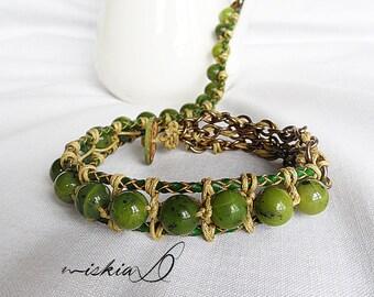 Jade, Nephrite Jade, Jade Bracelet, Natural Jade, Green Bracelet, Healing Bracelet, Spiritual Bracelet