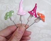 5 Mini magic toadstools fairy mushrooms terranium