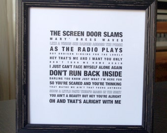 "10"" x 10"" Bruce Springsteen Poster"